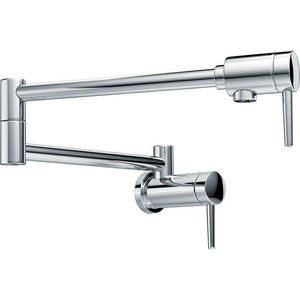 Chrome wall mount fold-able pot filler tap cook top watermark colors available