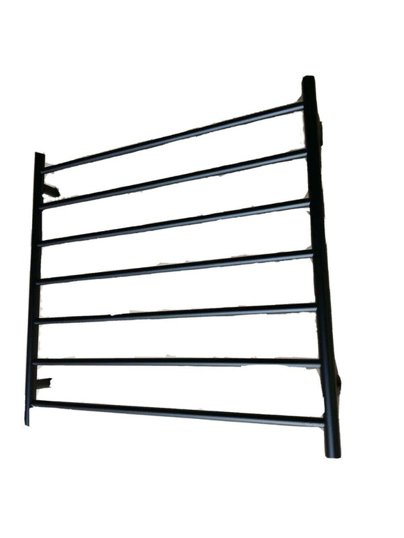 MATTE BLACK Non Heated Towel Rail rack round AU standard 850mm wide 7 bar
