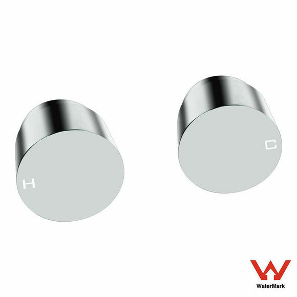 CHROME MODERN ROUND 1/4 QUARTER TURN WALL TOP ASSEMBLIES SHOWER BATH SPA TAP SET