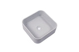 Ultra Modern concrete cement wash basin counter top Matt light Grey Square basin 2021