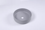 Ultra Modern concrete cement wash basin counter top Matt Black Round basin 2021