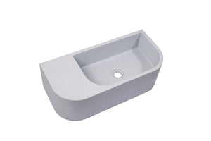 Ultra Modern concrete cement wash basin counter top Wall Hung Basin Matt light Grey 2021