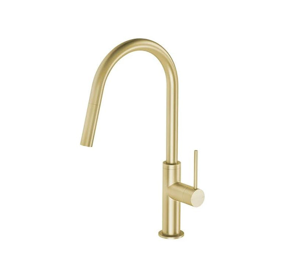 PVD Brushed Brass gold Copper finish stainless steel Made kitchen mixer swivel
