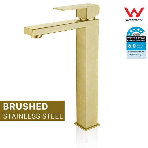2021 Burnished Brass gold high mixer tap faucet  Square spout