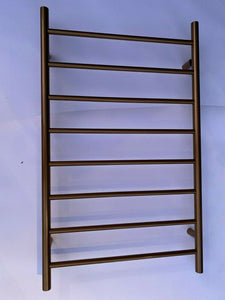 Brushed Rose Gold Copper NON Heated Towel Rail rack Round 8 bar 620 mm wide