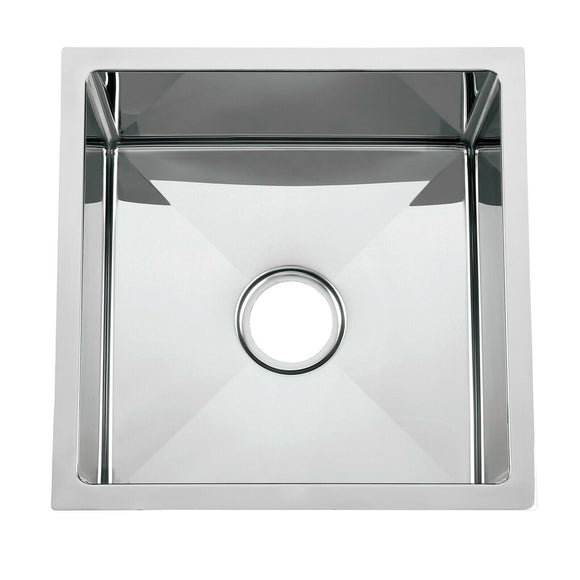 The First Polished stainless steel 304 single big bowl kitchen sink hand made 450*450*280