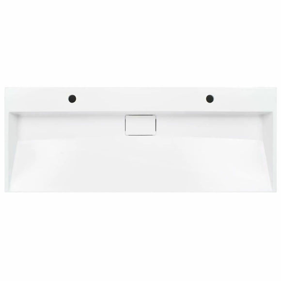 1200*460 mm Double Wall hung basin counter basin stone cast bathroom wash basin White