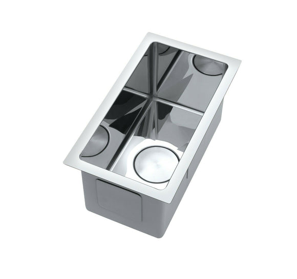 The First Polished stainless steel 304 single small bowl kitchen sink hand made pantry
