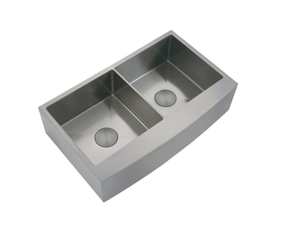 Burnished Gunmetal Stainless steel double bowl kitchen sink hand made 1.5 mm Butler Apron Farmhouse sink