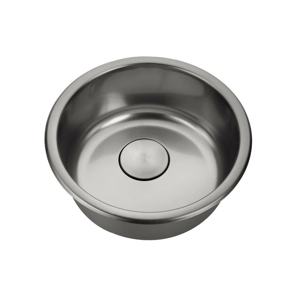 Burnished Brushed Gunmetal stainless steel Single Round bowl kitchen sink trough 420mm