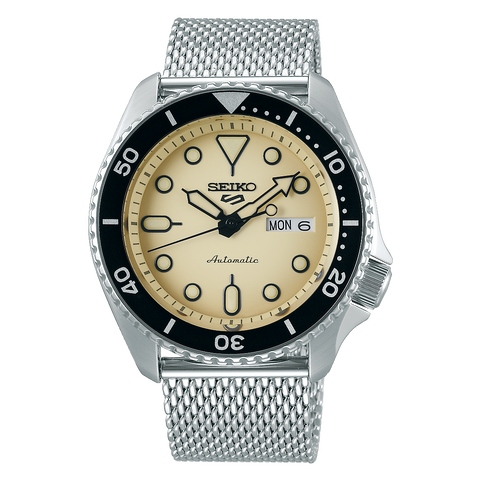SEIKO 5 SPORTS AUTOMATIC WATCH IN BEIGE DIAL SRPD67K1