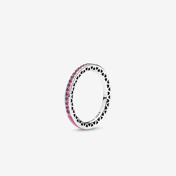 Radiant Hearts of PANDORA, Radiant Orchid Enamel  Cerise Crystals - FINAL SALE