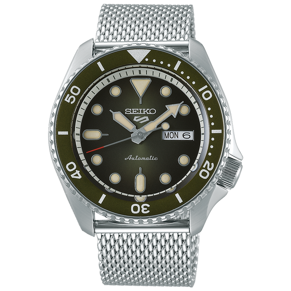 SEIKO 5 SPORTS AUTOMATIC WATCH IN GREEN DIAL SRPD75K1