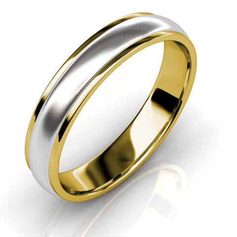 KIKO JAPAN TWO-TONE WEDDING BAND IN PLATINUM/18KT (3.4mm)