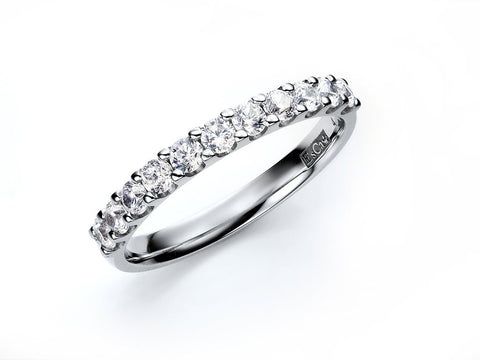 2.0MM PAVÉ-SET DIAMOND RING IN 14K WHITE GOLD - 0.33ct