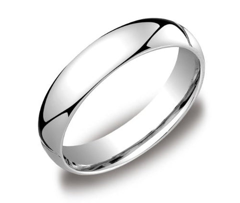 CLASSIC WEDDING RING IN 18K WHITE GOLD (5.0MM)