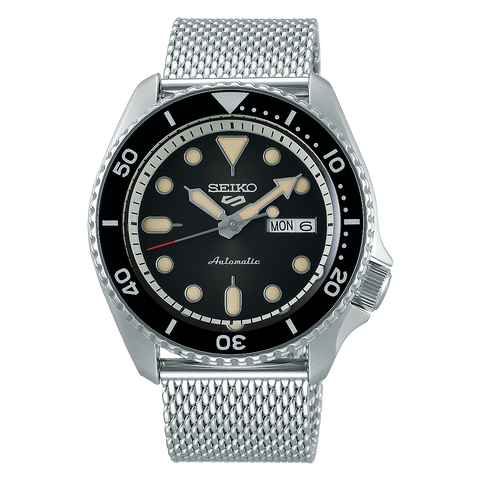 SEIKO 5 SPORTS AUTOMATIC WATCH IN BLACK DIAL SRPD73K1