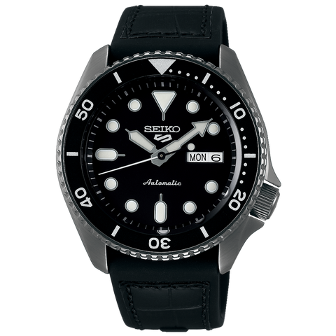 SEIKO 5 SPORTS AUTOMATIC WATCH IN BLACK SRPD65K3