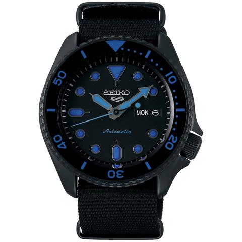 SEIKO 5 SPORTS AUTOMATIC WATCH IN BLACK SRPD81K1