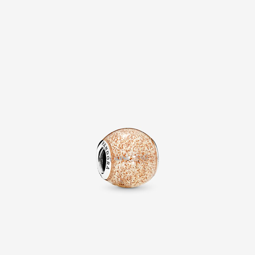 Pandora Rose Golden Glitter Ball Charm 796327EN145