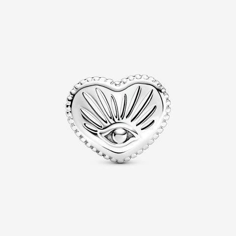 All-seeing Eye Heart Charm