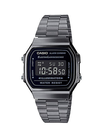 CASIO DIGITAL WATCH IN BLACK A168WGG-1BVT