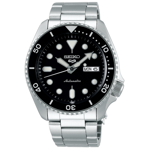 SEIKO 5 SPORTS AUTOMATIC WATCH IN BLACK DIAL SRPD55K1
