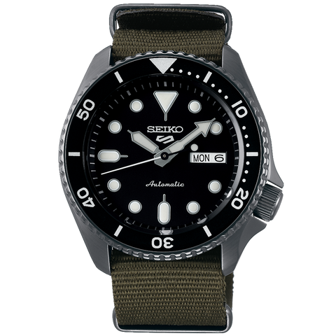 SEIKO 5 SPORTS AUTOMATIC WATCH IN GREEN STRAP SRPD65K4