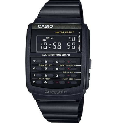CASIO DATABANK WATCH IN BLACK CA506B-1AVT