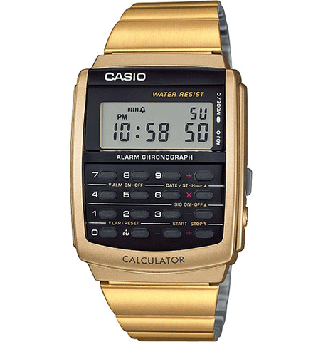 CASIO DATABANK WATCH IN GOLD CA506G-9AVT