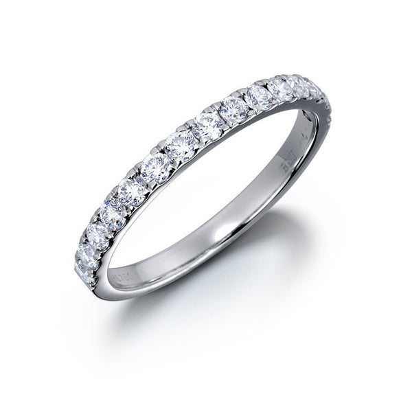 2MM CLAW-SET PREMIUM DIAMOND RING IN 14K WHITE GOLD