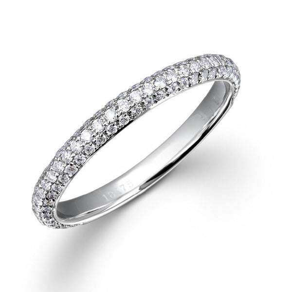 2.2MM MICRO PAVE-SET DIAMOND RING IN 18K WHITE GOLD – 0.50CTS