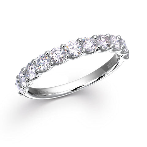FRENCH PAVÉ DIAMOND RING IN 18K WHITE GOLD – 1C.T.