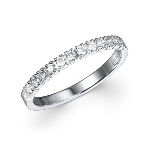 PETITE CATHEDRAL PAVÉ DIAMOND RING IN 18KT WHITE – 0.25CTS.TW