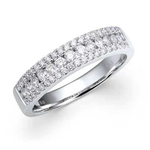 4.2MM CLAW-SET DIAMOND RING IN 14K WHITE GOLD - 0.55 CTS