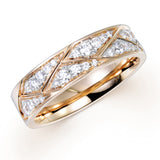 DIAMOND BRAIDED BAND IN 18K ROSE GOLD RING