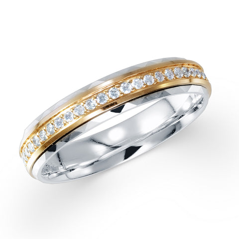 ETERNITY DIAMOND BAND IN 18K TWO TONE