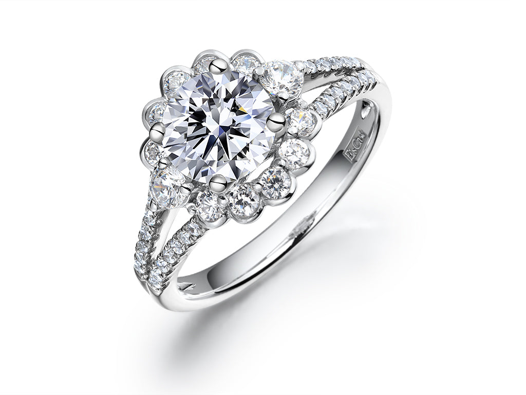 78d752a8e EsCa DIAMOND ENGAGEMENT RING SET (MOUNT ONLY) IN 18K WHITE GOLD ...