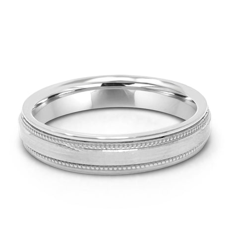 3.5MM MILGRAIN WEDDING RING IN PLATINUM