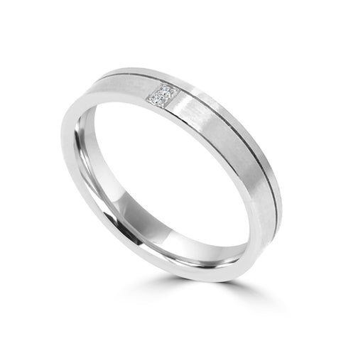 3.5MM DIAMOND WEDDING BAND IN PLATINUM & 18K WHITE GOLD