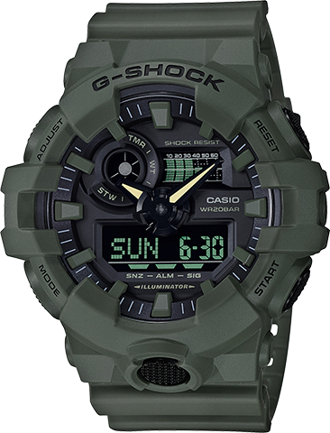 CASIO G-SHOCK ANALOG-DIGITAL WATCH IN GREEN GA700UC-3A