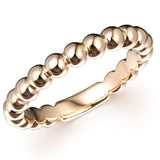 BEAD RING IN 18K ROSE GOLD