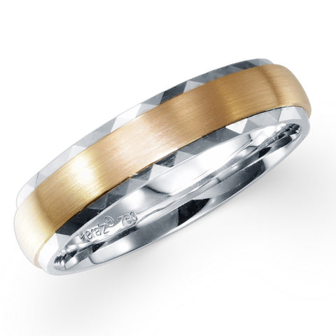 COMFORT FIT WEDDING BAND IN 18K TWO-TONE GOLD
