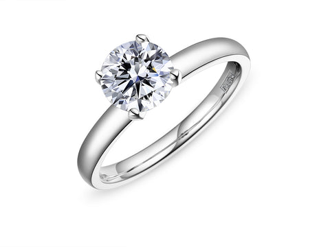 EsCa DIAMOND ENGAGEMENT RING SET (MOUNT ONLY)  IN 18K WHITE GOLD