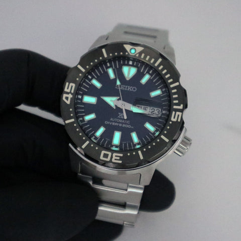 "SEIKO PROSPEX ""MONSTER"" STAINLESS STEEL, BLUE DIAL WATCH SRPD25K1"