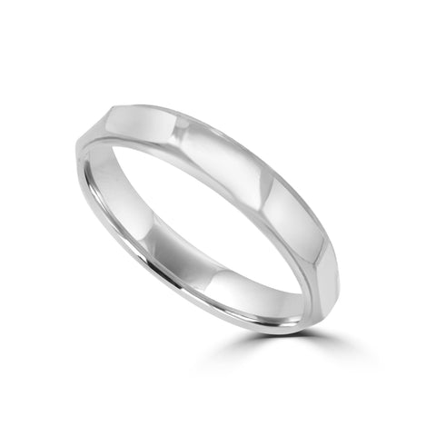 3.2MM MULTI-EDGED WEDDING RING IN PLATINUM