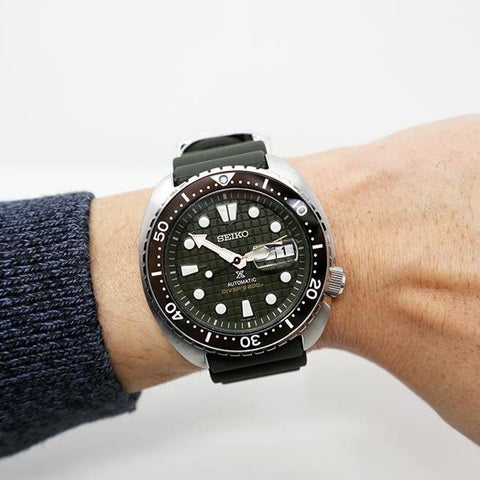 SEIKO PROSPEX KING TURTLE IN GREEN DIAL SRPE05K1