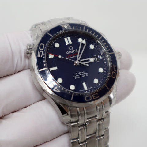 OMEGA SEAMASTER DIVERS 300 M CO-AXIAL 41MM AUTOMATIC BLUE DIAL  - 212.30.41.20.
