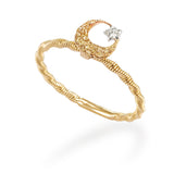 LMD CITY LIGHTS MOONLIGHT DIAMOND RING IN 18K YELLOW GOLD