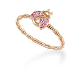 LMD CITY LIGHTS LADY BUG DIAMOND RING IN 18K ROSE GOLD